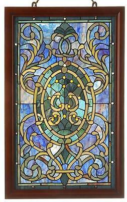 Warehouse of Tiffany-style Boarder Wooden Frame Window Panel