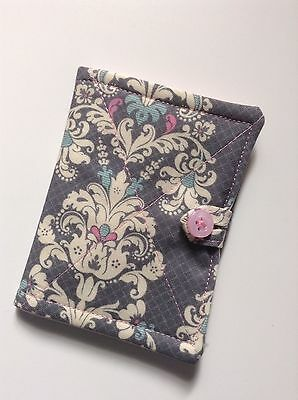 Needlecase. fabric Shabby chic grey floral. Store needles safely. Gift. present