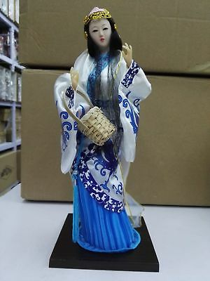 Oriental broider doll,China Old style figurine China doll girl statue