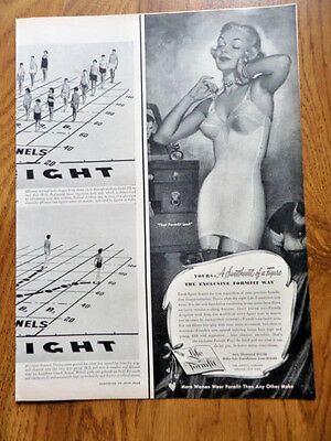 1950 Life Formfit Bra Ad Sweetheart of a Figure