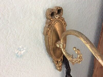 Antique Brass Sconce From England, Rewired Working