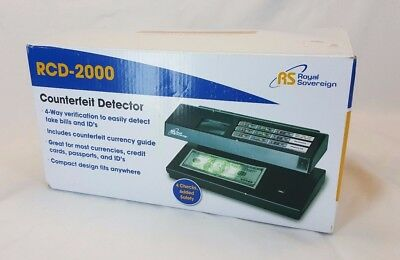 Royal Sovereign Portable 4-way Counterfeit Detector Rcd-2000 - UV, Magnetic