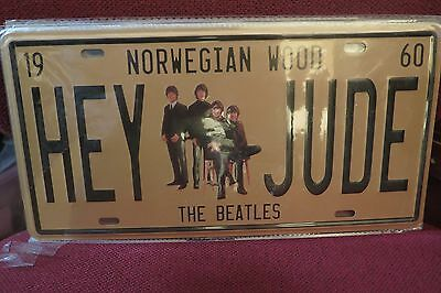 Beatles Hey Jude Novelty Number Plate 30 Cm By 15 Cm