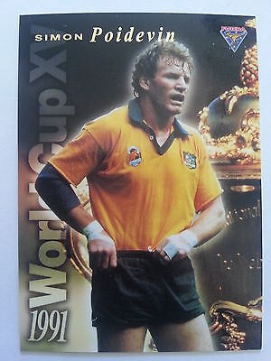 1995 Futera Rugby Union 1991 World Cup XV WC6 Simon Poidevin