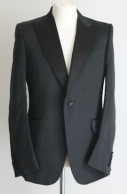 Gucci Men's 2012 Catwalk Black Silk Dinner Tuxedo Jacket IT 52 R UK 40/42 NWOT