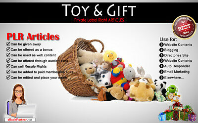 100+ PLR Articles on Toy & Gift Niche Private Label Rights