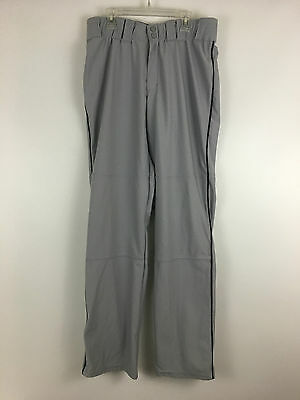 Under Armour Mens Loose Gray, Black Trim  Athletic  Pants Size Md