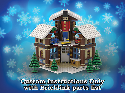 LEGO Winter Village Woodcarver INSTRUCTIONS ONLY for LEGO Bricks (Christmas)