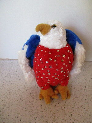 """2007 Patriotic """"Beanie Baby"""", American Eagle, Red,White & Blue, Retired"""