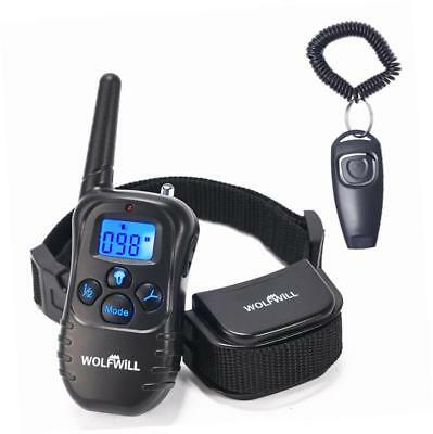 WOLFWILL Remote Pet Dog Training Collar,300 Yards Rechargeable & Waterproof