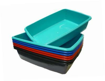 Whitefurze Plastic Large Cat Litter Tray (From 4 Colours) (Black)