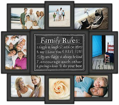 HANGING Wall Decor Family Picture Frame Photo Collage Wood Home ...
