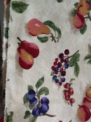 Longaberger Rare Retired Fruit Medley Fabric - Half Yard - Only Two Available !