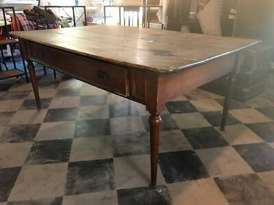 Antique Pine Farm Table - Real Deal, Oozes With Character