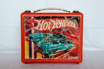 Vintage 1969 Hot Wheels Plastic Lunchbox by Mattel. No Thermos