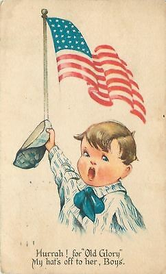 Charles Twelvetrees~WWI Patriotic~My Hat's Off to Old Glory, Boys! US Flag~1917