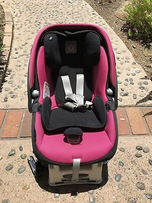 Peg Perego Girls Infant Car Seat With Base Primo Viaggio SIP 30-30 Pink & Black