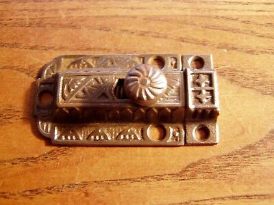 Antique victorian  Cast Iron Cabinet Cupboard Door Latch