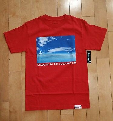 newest collection 90c53 2d00c Diamond Supply Co T Shirt Tee Yacht Club Red Sz Small