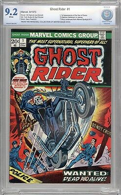 Ghost Rider #1 CBCS 9.2 -Mr Magik Woo Copy-1st App of Son of Satan-like cgc -Key