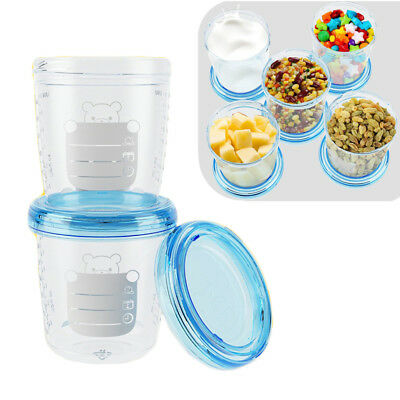 Baby Food Storage Cup Set Breast Milk Fruit Juice Storage Seal Cups Box Case