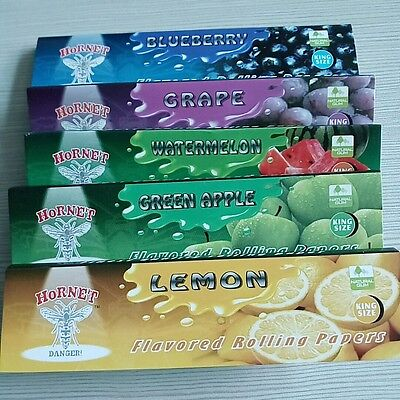 110mm New 5 Fruit Flavored Smoking Cigarette Hemp Tobacco Rolling Papers