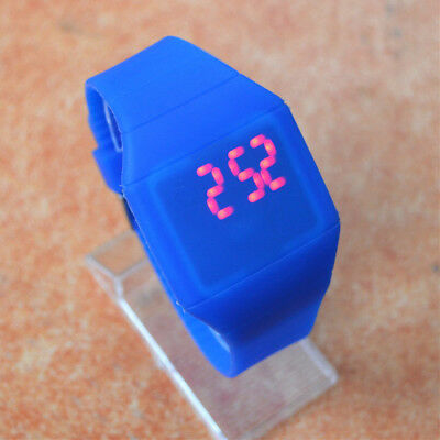 Digital LED Touch Screen Sport Silicone Bracelet Wrist Watch Unisex