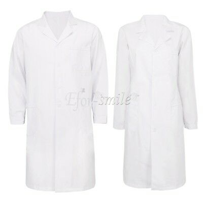 Lab Coat Medical White Men/Woman Classic Stylish Nurse Scrubs Doctor Gown Jacket
