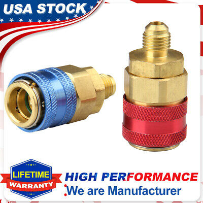 A/C Air Condition Quick Coupler Adapter Stright Manifold Connector R134A HVAC
