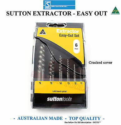 Sutton Easy Out Screw Extractor Set Nut Top Quality Special Made In Australia