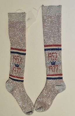 Vintage Red / White / Blue Sparkling Socks 1952 - 1977 Crown Logo