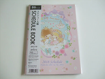 New!! Sanrio Little Twin Stars Kawaii 2018 Schedule Book Calendar/B6 size
