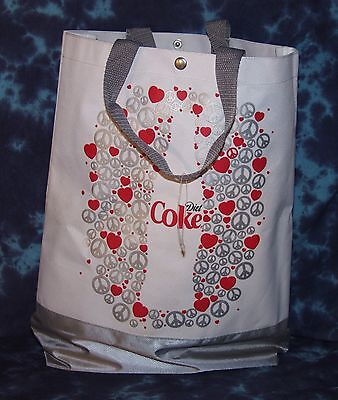 Vinyl Coca Cola Bag with handles - Very Cool! - MINT Condition! - $1.99 Postage