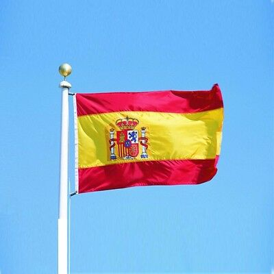 3' x 2' Spain Spanish National Flag Bunting Olympic Sport Football Fan Supporter