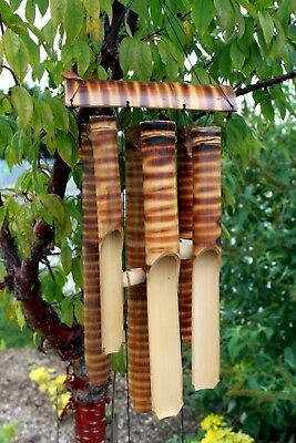 Bamboo Wind Chime 6 X Large Tubes HAND MADE In Indonesia - Beautiful Sound!