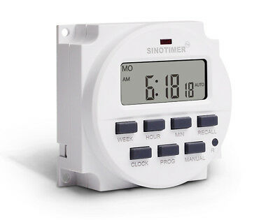 15.98 Inch LCD Digital Timer 24V DC AC 7 Days Automatic Programmable Time Switch