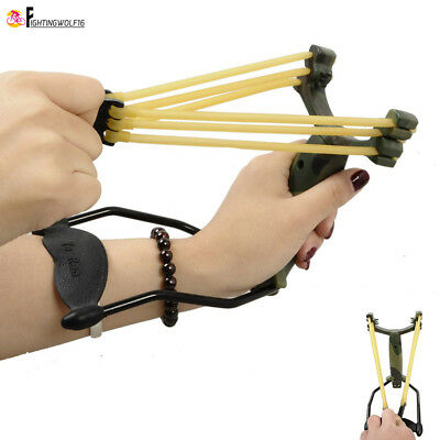 Wrist Folding Professional Slingshot Catapult +Powerful Bungee Airsoft Hunting