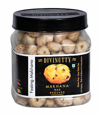Divinutty Fox Nut Zero Trans Fats Gluten Free Flavoured  Fasting Makhana -3.1 Oz