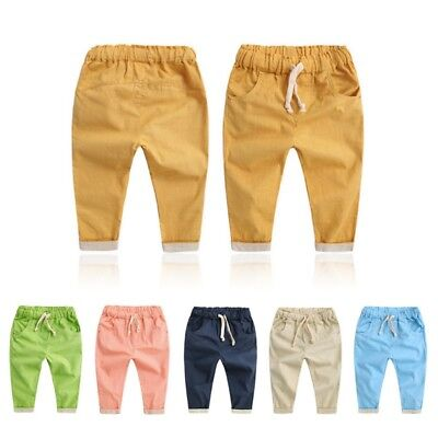 Infant Baby Kids Boy Girls Casual Cotton Harem Pants Loose Long Trouser 2-7Y