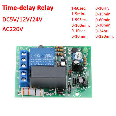 5/12/24/110/220V Trigger Delay Switch Turn Off Board Timing Timer Relay Module E