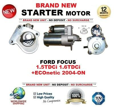 FOR FORD FOCUS 1.5TDCi 1.6TDCi +ECOnetic 2004-ON NEW STARTER MOTOR 1.2kW 11Teeth