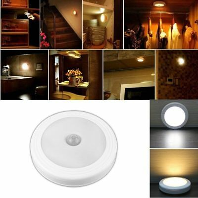 LED Light Lamp PIR Auto Sensor Motion Detector Wireless Infrared Home Indoor WH#