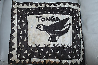 Painting on Tapa from Tonga Polynesian paradise. Pacific Ocean