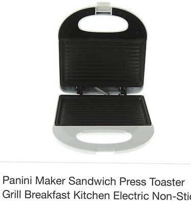 electricic sandwich panini maker, white, easy to use, good quality, non stick.