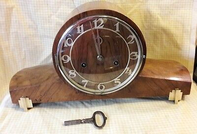 Haller 2Key Striking Mantle Clock With Pendulum & Key In E.w.o Hal1