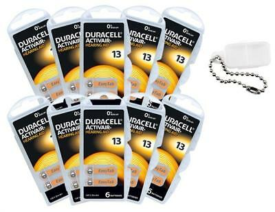 Duracell Piles Auditives Taille 13 Pack de 60 + Porte Piles OFFERT