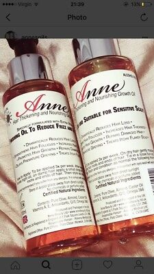 Annes  Hair Oil Thickening And Nourishing Growth Oils Twin Pack Day & Night