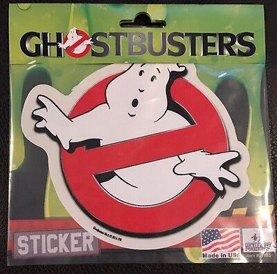 GhostBusters Vinyl Car Sticker Decal5 1/2 x 4 3/4.  Who You Gonna Call?? Mint!!!