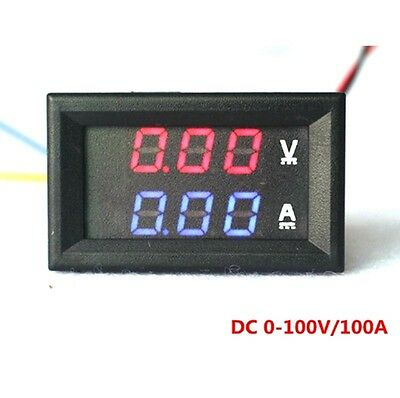 Sicher DC0-100V/50A Digital Amperemeter Voltmeter Rot/Blau LED Dual Farb Display