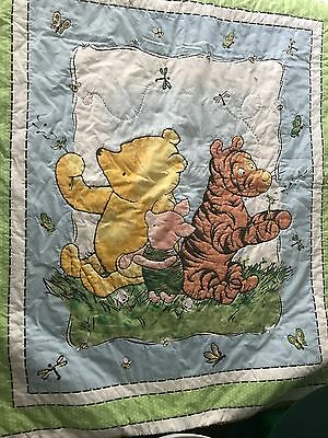 Disney Winnie the Pooh Piglet Tigger Baby Quilted Crib Comforter